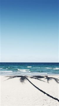 Beach Blue Nature Sea Holiday Water Sky iPhone 6 wallpaper