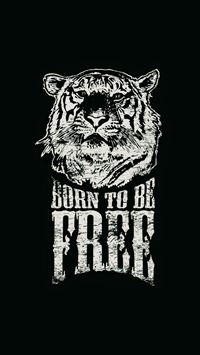 Born To Be Free Tiger Illustration iPhone 6(s)~8(s) wallpaper