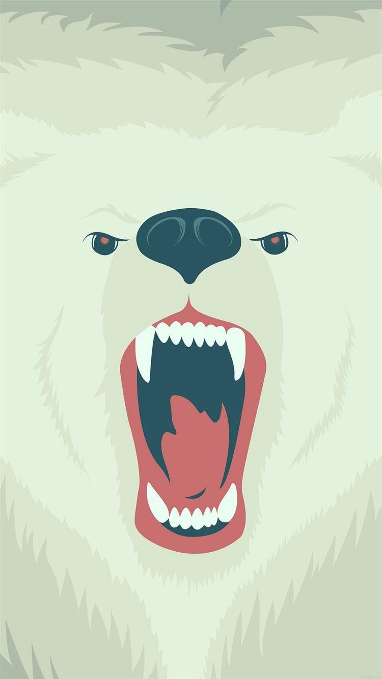 fierce polar bear winter cartoon illust iphone 8. Black Bedroom Furniture Sets. Home Design Ideas