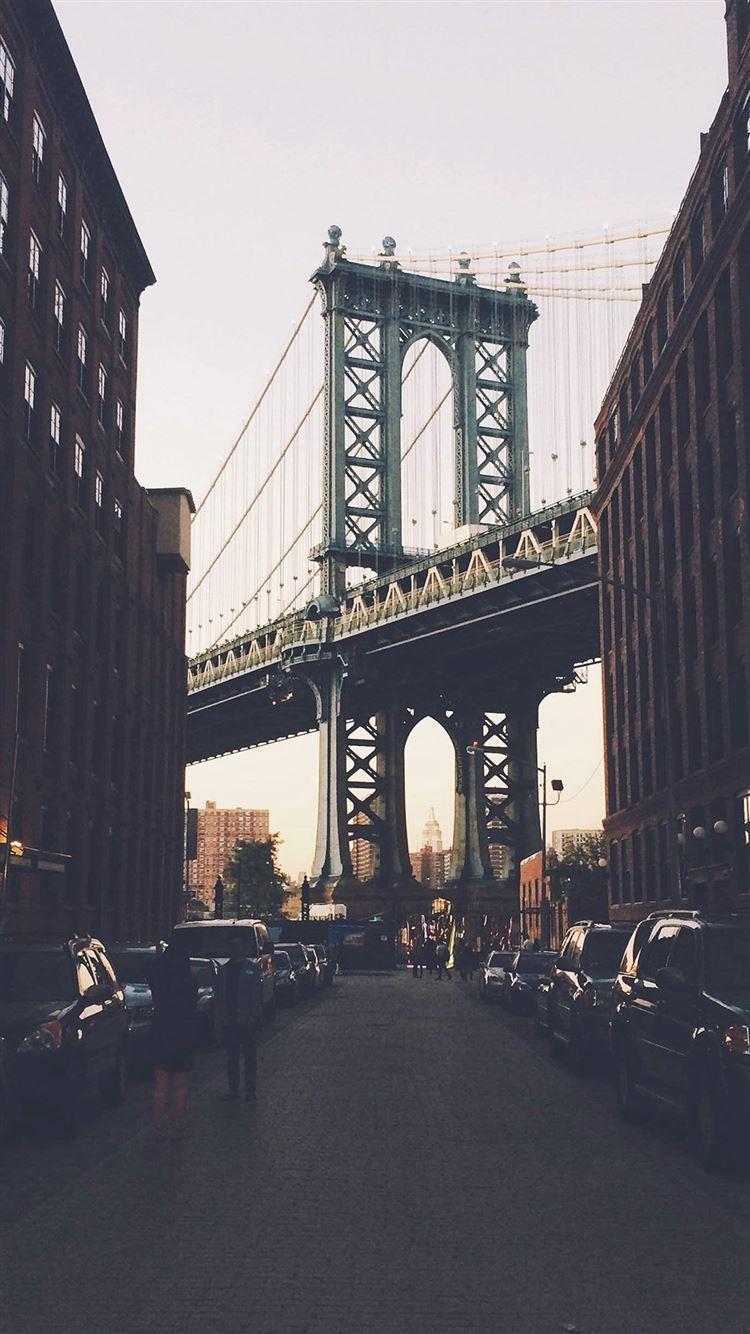 New York Bridge City Building Architecture Street Iphone 8