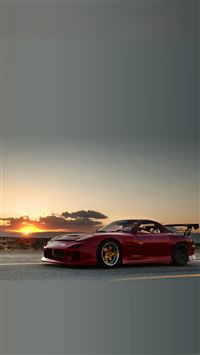 Mazda RX7 Sunset iPhone 6(s)~8(s) wallpaper