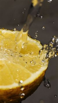 Orange Water Lemon Fruit iPhone 6(s)~8(s) wallpaper