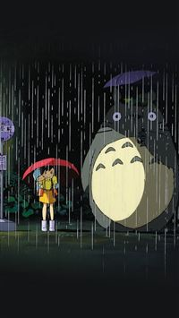 My Neighbor Totoro Art Illust Rain Anime iPhone 6(s)~8(s) wallpaper