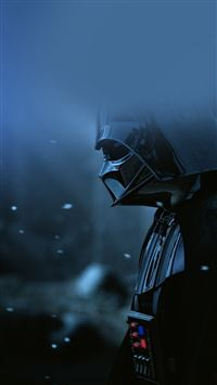 Starwars Darth Vader Art Film Blue iPhone 6(s)~8(s) wallpaper