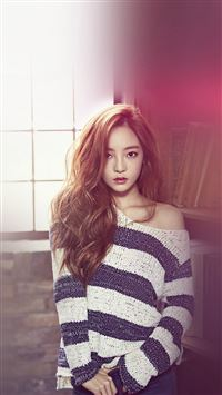 Goo Ha Ra Kpop Girl Music Flare Red iPhone 6(s)~8(s) wallpaper