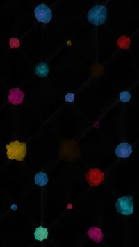 Watercolor Dots Dark Pattern iPhone 6(s)~8(s) wallpaper