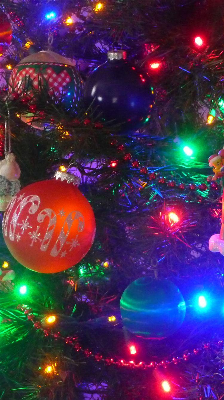 Colorful Christmas Lights Decoration iphone 8 wallpaper ilikewallpaper com
