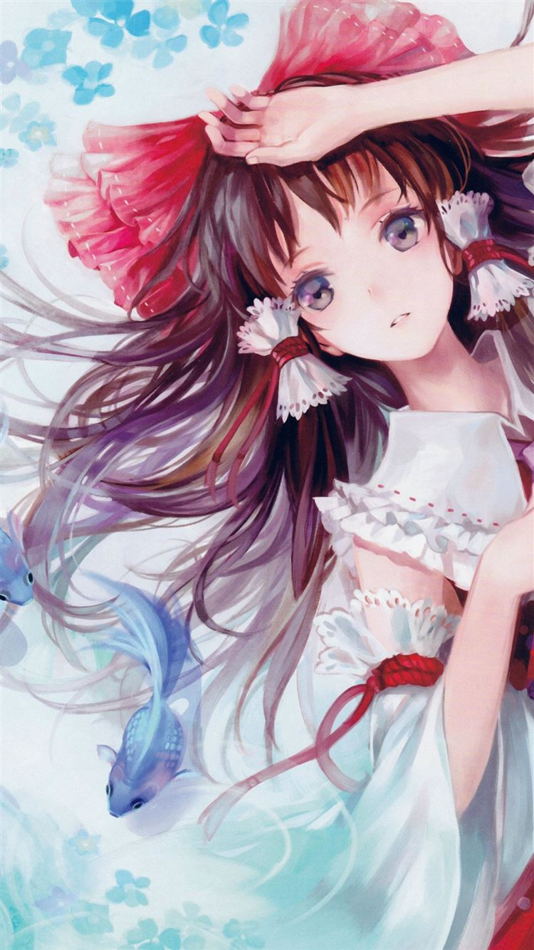 Anime Art Paint Girl Cute Iphone 8 Wallpapers Free Download
