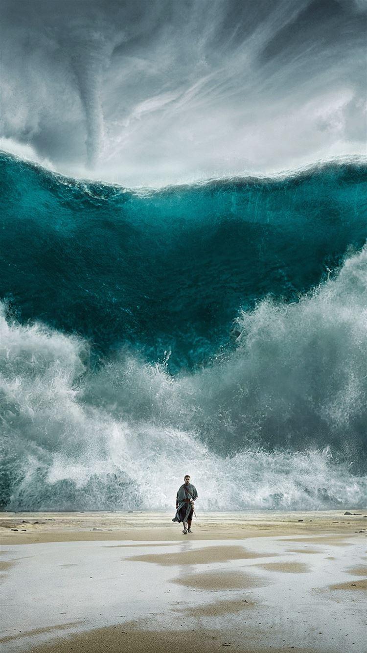 Wave Sea Art Film Illust Iphone 8 Wallpapers Free Download
