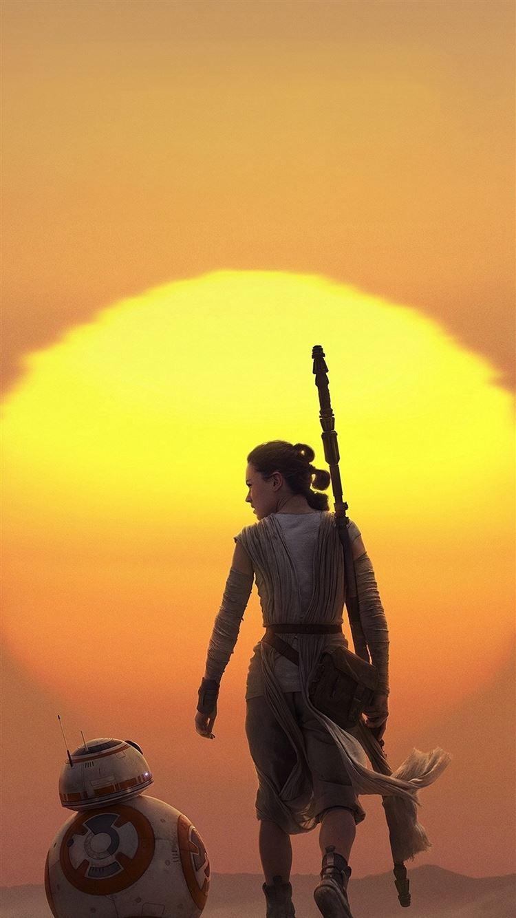 Force Awakens Starwars Art Rey Iphone 8 Wallpapers Free Download