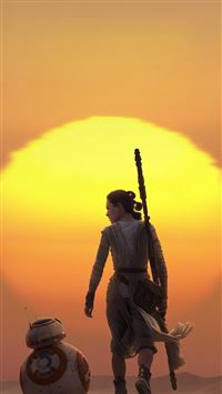 Force Awakens Starwars Art Rey iPhone 6(s)~8(s) wallpaper