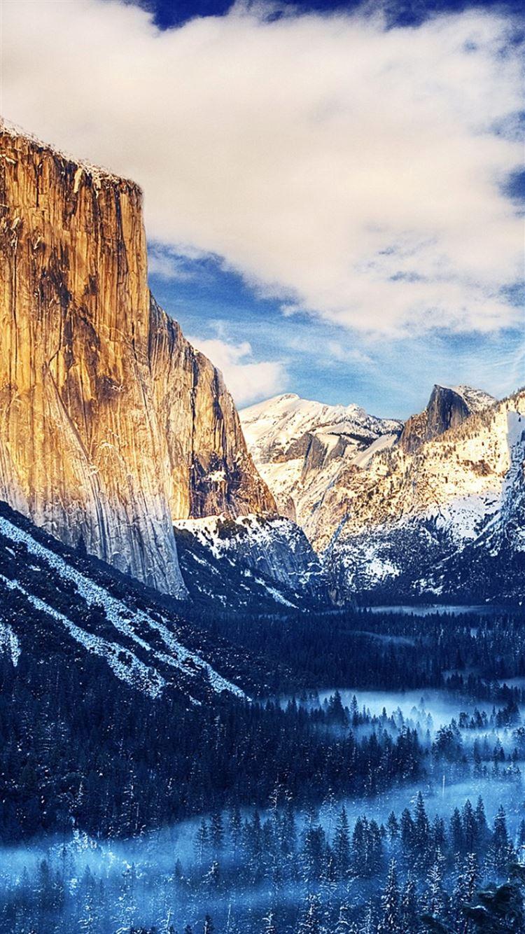 Yosemite National Park Winter Landscape Iphone 8 Wallpapers