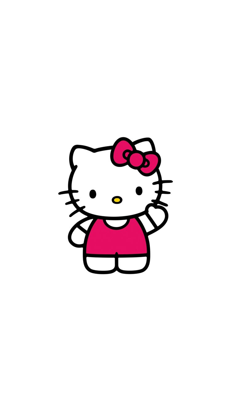 Hello Kitty Art Cute Logo Minimal Iphone 8 Wallpapers Free Download