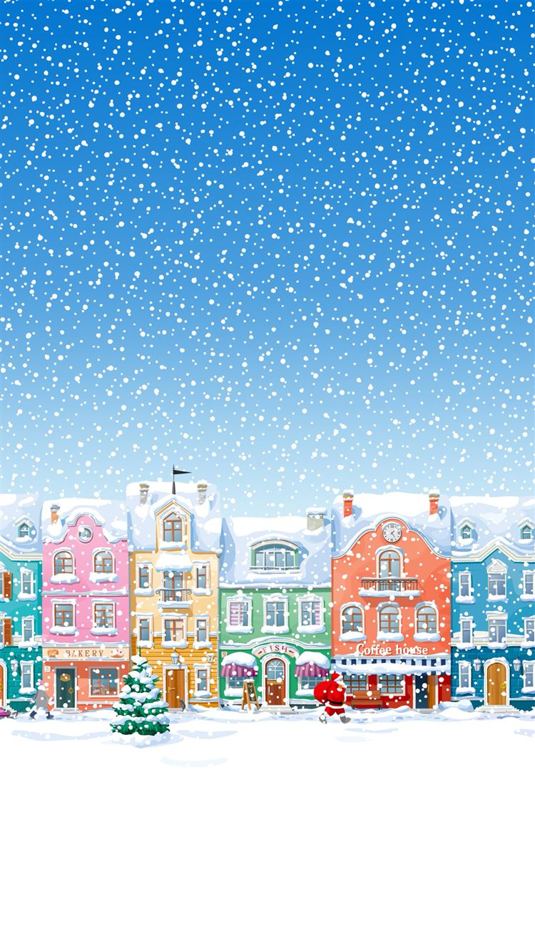 Miraculous Snowy Town Santa Claus Delivering Christmas Presents Iphone Interior Design Ideas Skatsoteloinfo