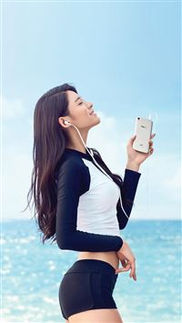 Seolhyun Aoa Kpop Sea Summer Cute iPhone 6(s)~8(s) wallpaper