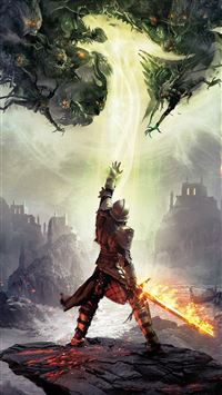 Dragon Age Inquisition Game Illust Art iPhone 6(s)~8(s) wallpaper