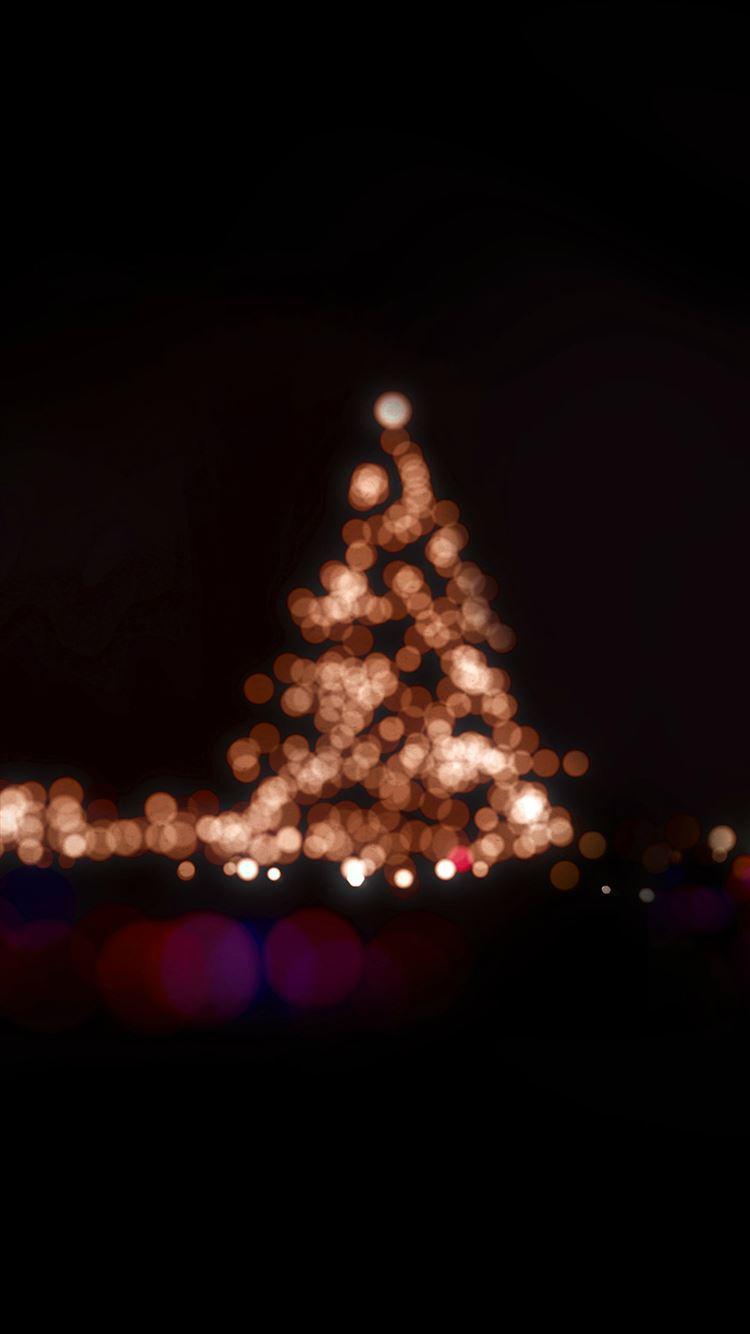Christmas Lights Bokeh Love Dark Night