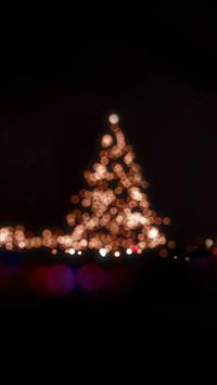 Christmas Lights Bokeh Love Dark Night iPhone 6(s)~8(s) wallpaper