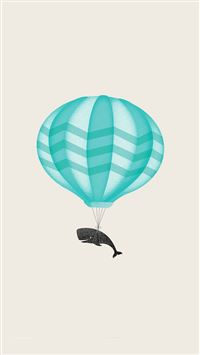 Cute llustration Whale Balloon Art iPhone 6(s)~8(s) wallpaper