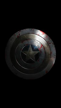 Captain America Avengers Hero Sheild Small Dark iPhone 6(s)~8(s) wallpaper