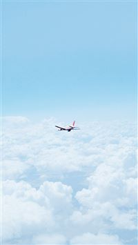 Flight Sky Plane Cloud Nature iPhone 6(s)~8(s) wallpaper