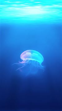 Ocean Jellyfish Surreal Light iPhone 6(s)~8(s) wallpaper
