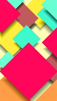 Abstract Colorful Square Overlap iPhone 6(s)~8(s) wallpaper