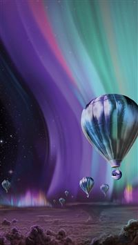 Jupiter Aurora Space Sky Art Illustration iPhone 6(s)~8(s) wallpaper