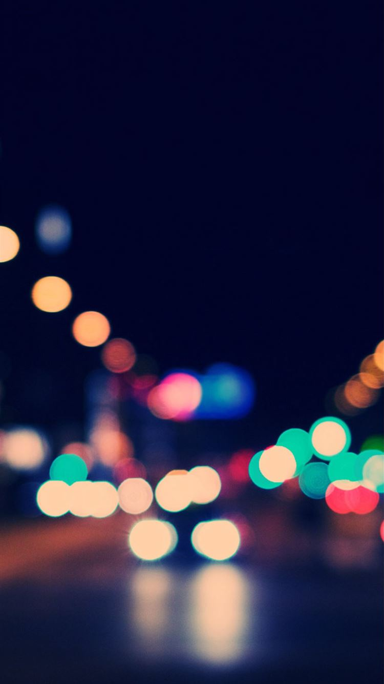 Bokeh City Street Lights Iphone 8 Wallpapers Free Download