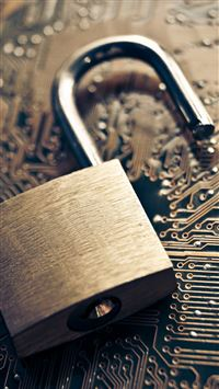 Open Lock On Chip Information Security iPhone 6(s)~8(s) wallpaper