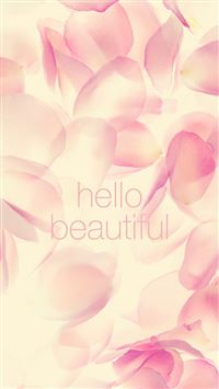 Hello Beautiful Flower Prints iPhone 6(s)~8(s) wallpaper