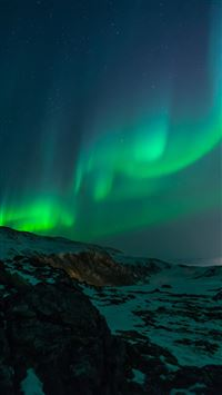Aurora Nature Night Sky iPhone 6(s)~8(s) wallpaper