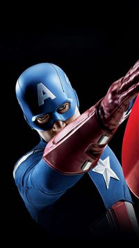 Avengers Captain America Illust Art Portrait iPhone 6(s)~8(s) wallpaper