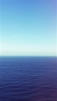 Calm Sea Blue Ocean Water Summer Day Nature iPhone 6(s)~8(s) wallpaper