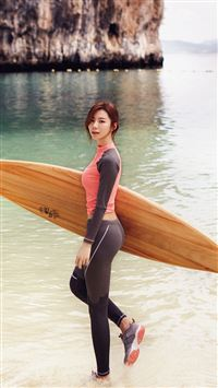 Sujin Beach Swim Vacation Kpop Film iPhone 6(s)~8(s) wallpaper