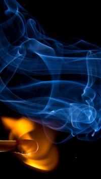 Match Fire Abstract Dark iPhone wallpaper