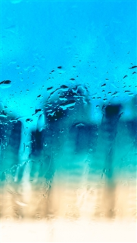 Glass Surface Drops Texture iPhone 6(s)~8(s) wallpaper