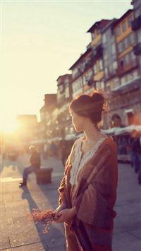 Street Sunshine Aesthetic Beside Face iPhone 6 wallpaper