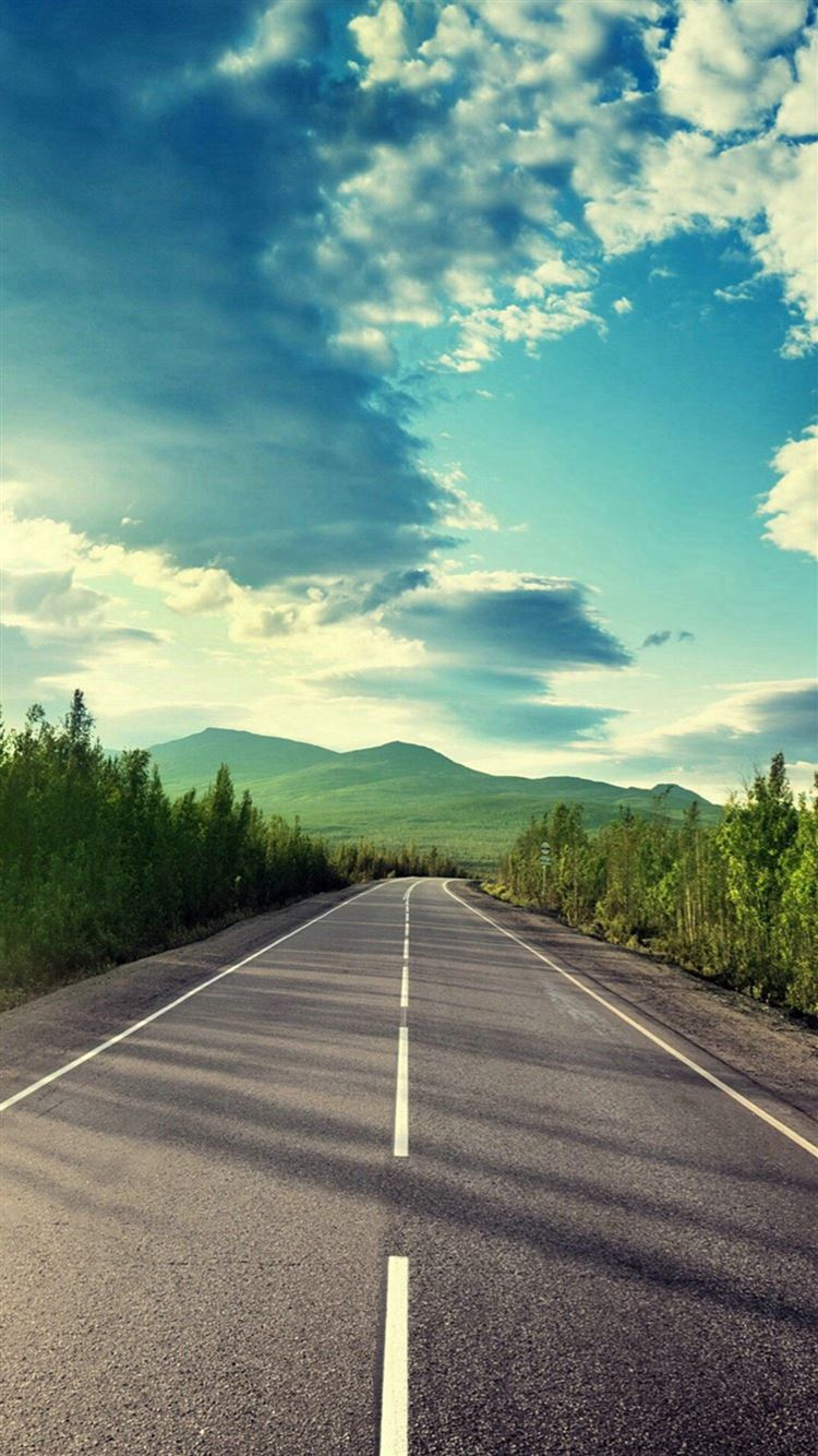 Sunshine Road Mountain View Iphone 8 Wallpaper Download Iphone