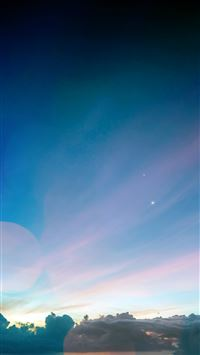 Sky Blue Sunshine Healing Nature Star Bokeh iPhone 6(s)~8(s) wallpaper