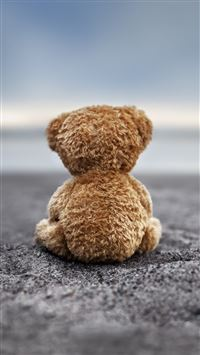 Bear Doll Back Lonely Ground iPhone 6(s)~8(s) wallpaper