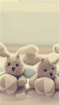 Cute Lovely Doll Toy Bokeh iPhone 6(s)~8(s) wallpaper