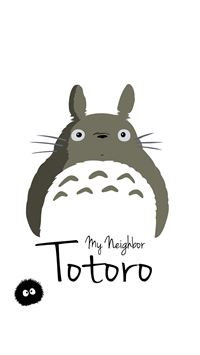 My Neighbor Totoro Art Minimal iPhone 6(s)~8(s) wallpaper