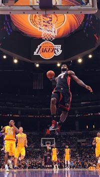 Lebron James NBA Basketball Dunk iPhone 6(s)~8(s) wallpaper