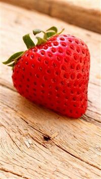 Fruit Strawberry Wooden Table iPhone wallpaper
