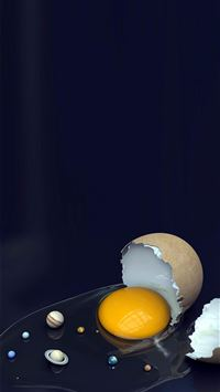 Solar System Broken Egg iPhone 6(s)~8(s) wallpaper