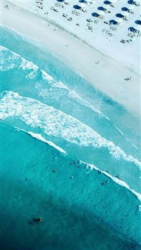 Vacation Ocean View Top Summer Green iPhone 6(s)~8(s) wallpaper