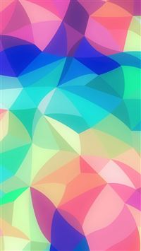 Rainbow Abstract Colors Pastel Soft Pattern iPhone 6(s)~8(s) wallpaper