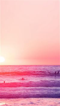 Happy Beach Sea Holiday Nature Fun City Pink iPhone 6(s)~8(s) wallpaper