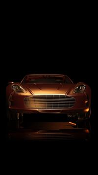 Dark Sportscar Gold Art Illustration iPhone 6(s)~8(s) wallpaper